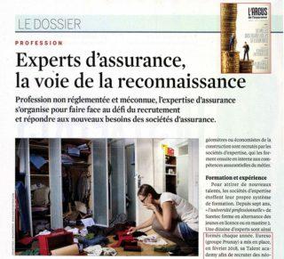 Experts d'assurance, la voie de la reconnaissance (L'Argus de l'assurance du 17/05/19)
